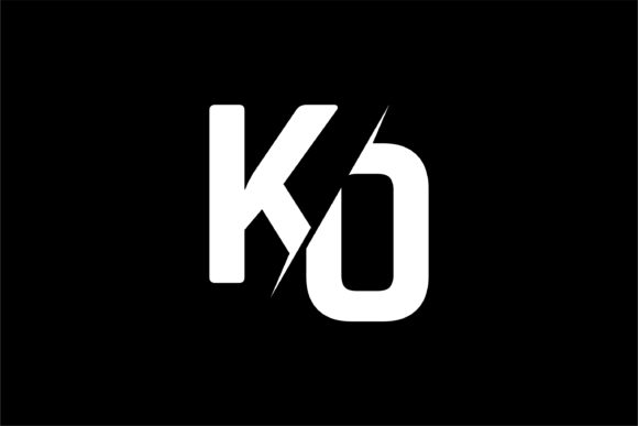 Monogram KO Logo Design.