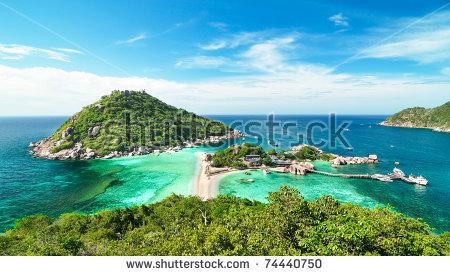 Koh Nang Yuan Island Thailand Stock Photo 68182651.
