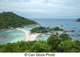 Stock Images of Koh Nang yuan Island,Surat,Thailand csp12396158.