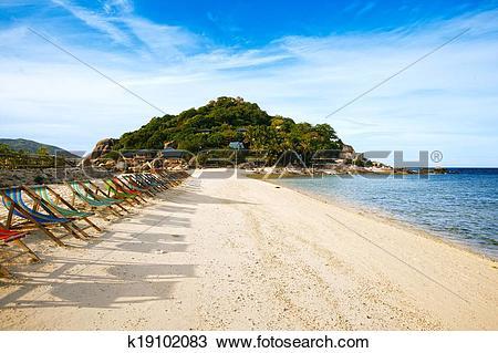 Stock Photo of Thailand, Koh Nang Yuan beach and resort k19102083.