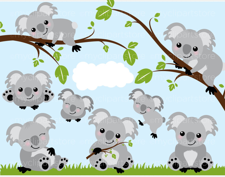 Koala bear clip art.