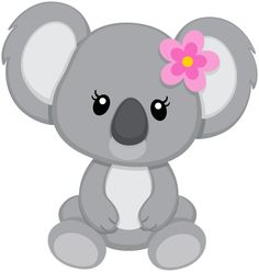 Baby koala bear clipart outline.