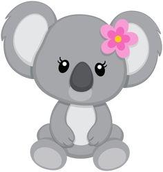 Baby koala clipart.
