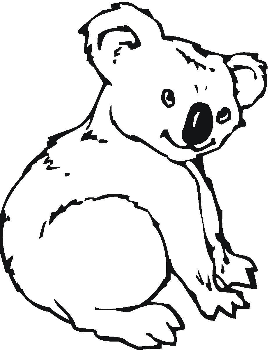Koala clipart black and white 6 » Clipart Station.