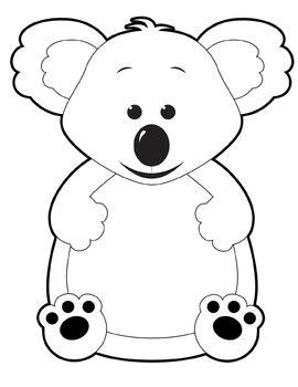 Koala clipart black and white 2 » Clipart Portal.