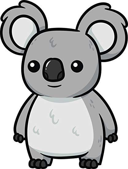 Amazon.com: Adorable Wild Grey Australian Koala Bear Clipart.