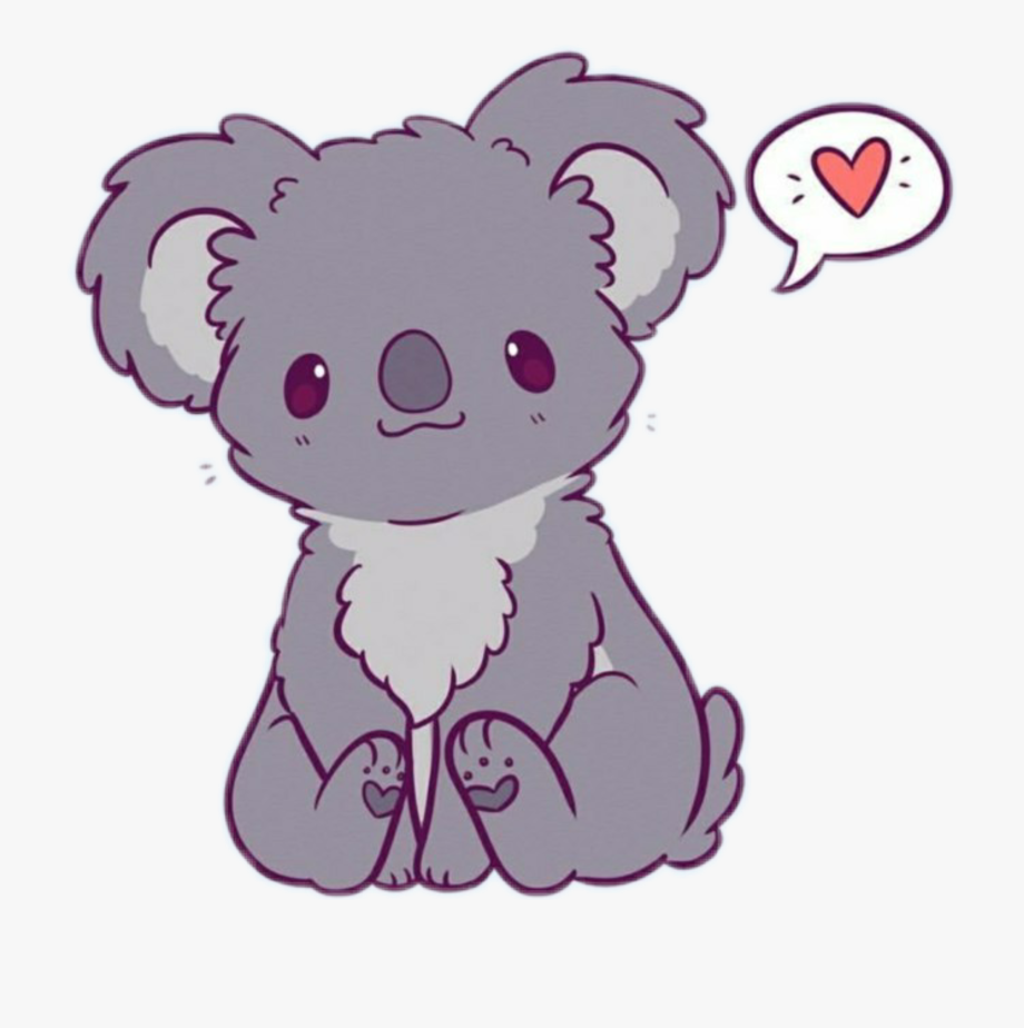 koala #bear #koalabear #grey #happy #cute #kawaii.
