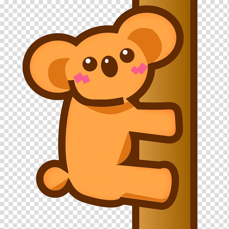 Koala Emoji Text messaging , monkey cartoon transparent.