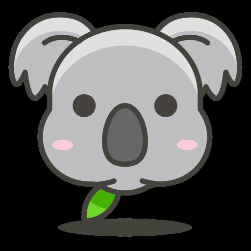 Cute Koala Face PNG Clipart Image.