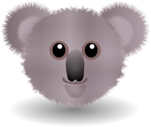 Koala Face Clip Art at Clker.com.