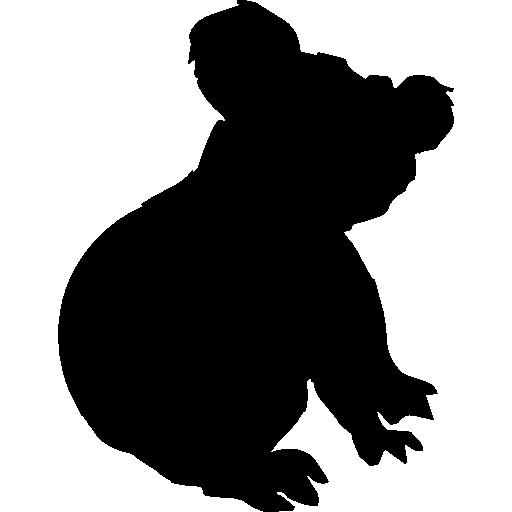 Koala silhouette free vector icons designed by Freepik.