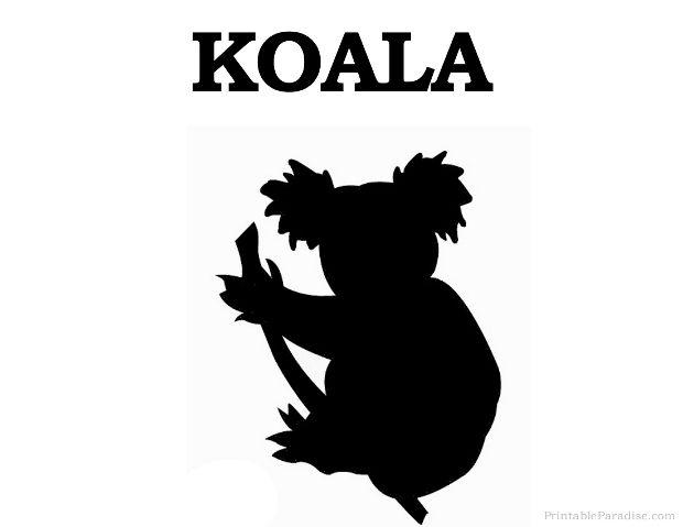 Printable Koala Silhouette.
