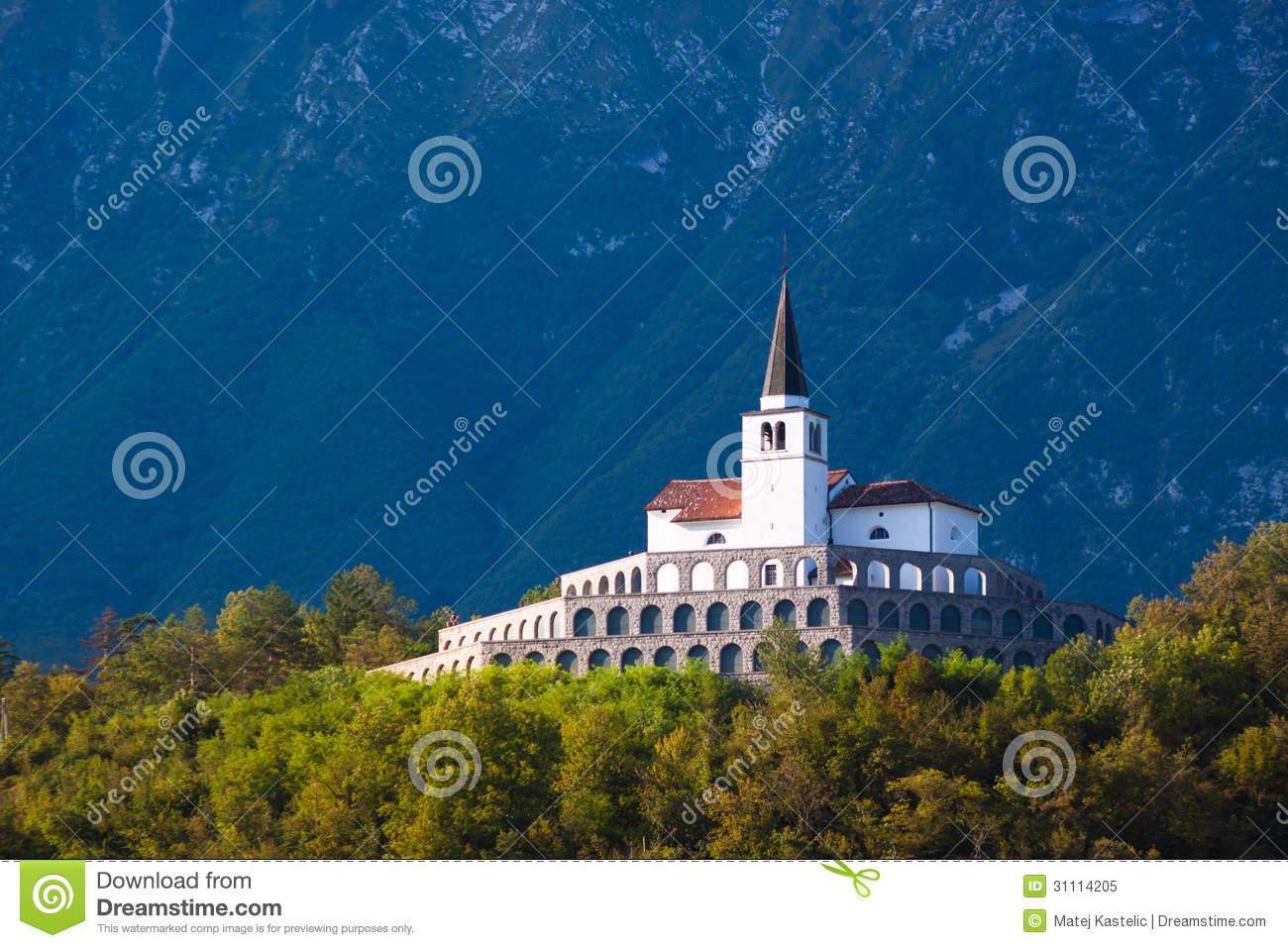 St. Anton Church In Kobarid, Slovenia, Europe. Royalty Free Stock.