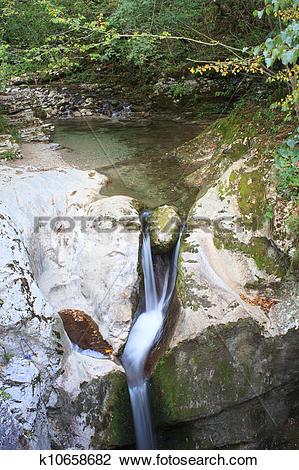 Stock Photo of Little waterfall k10658682.