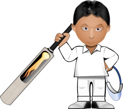 Kobo Cricket Toon clip art free vector.