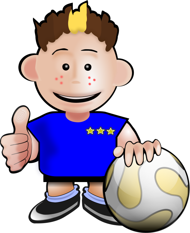Free Clipart: Soccer toon 2.