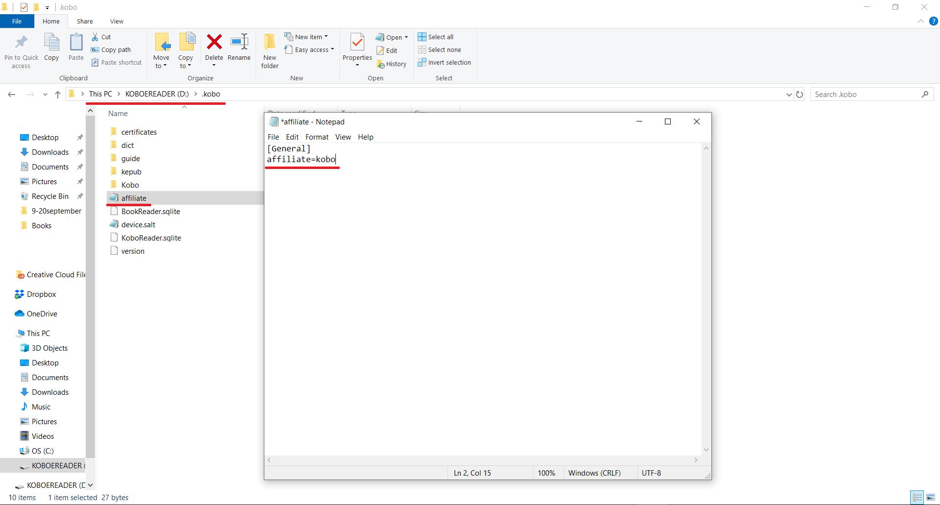 Remove fnac / affiliate logo on Kobo · Reading Ocelot.