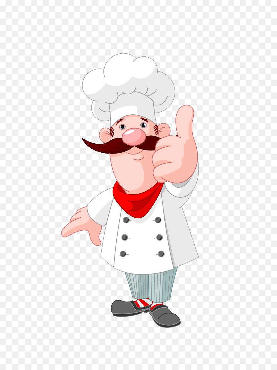 Chef Cartoon Kochen clipart.