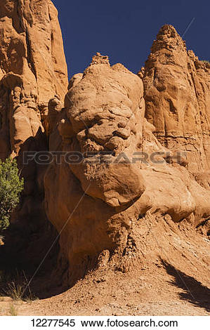 Stock Image of Rock formation, Kodachrome Basin State Park; Utah.