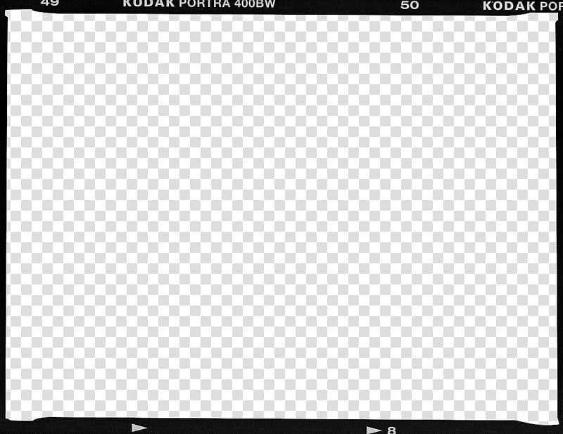 Film Borders FRAMES, Kodak Portra BW frame transparent background.