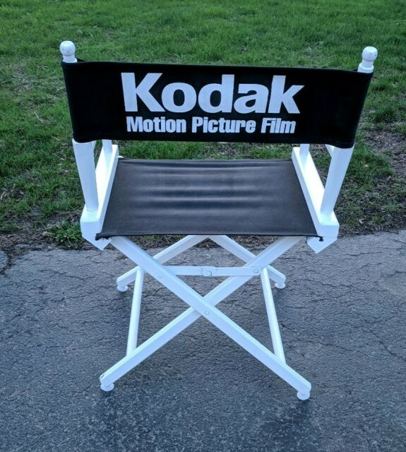 Vintage Kodak Motion Picture Film Telescope Wood Directors Chair Canvas  Movie.