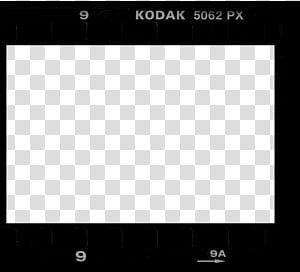 Film Borders FRAMES, Kodak Portra BW frame transparent.