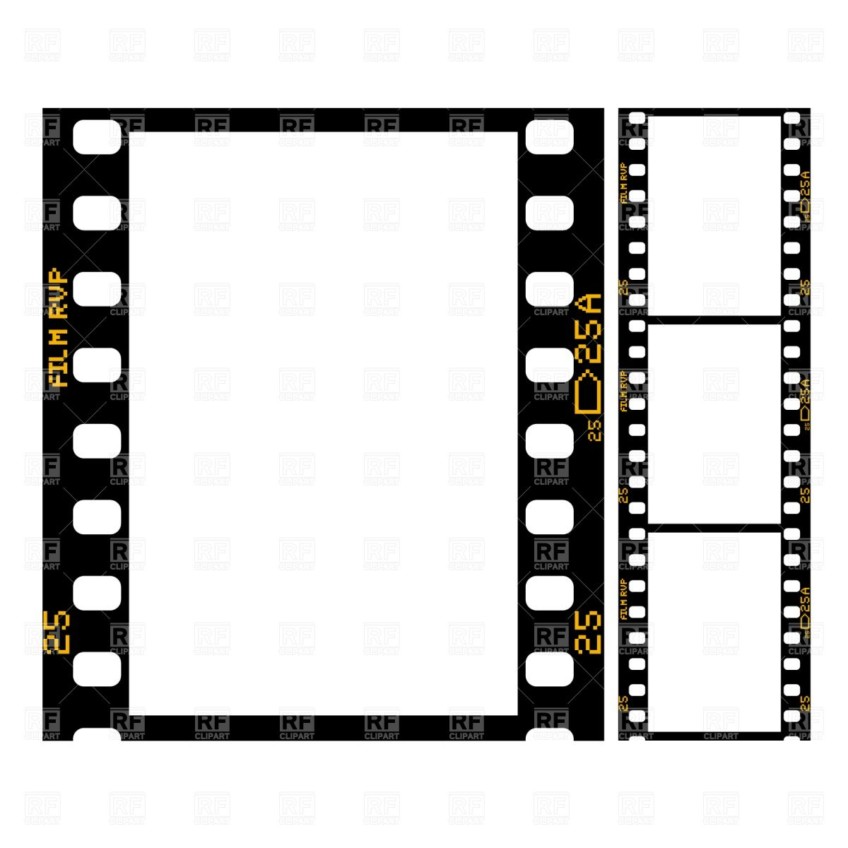 Film Strip image Template (2560px wide) from the barefoot.