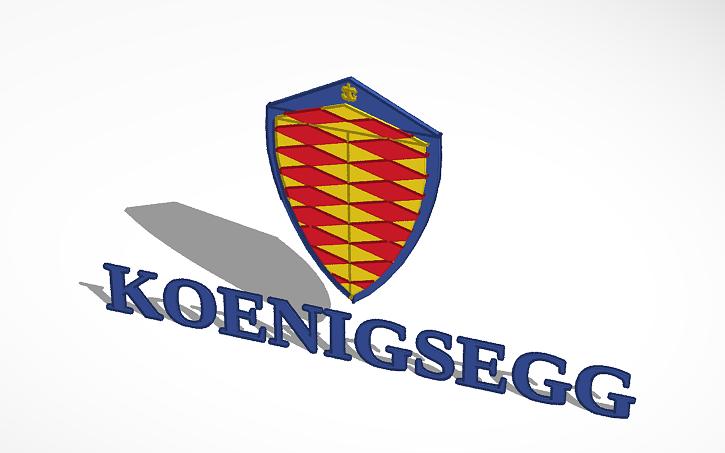 3D design koenigsegg sports car logo.