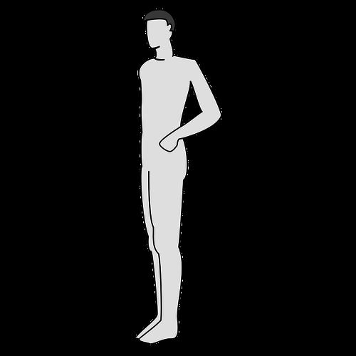 Männlichen Körper Silhouette vektor.