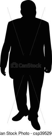 Vektor von koerper, silhouette, Mann.