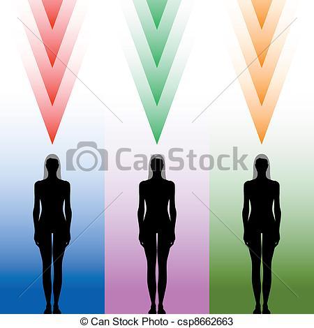 Vektoren von koerper, silhouette, weibliche.