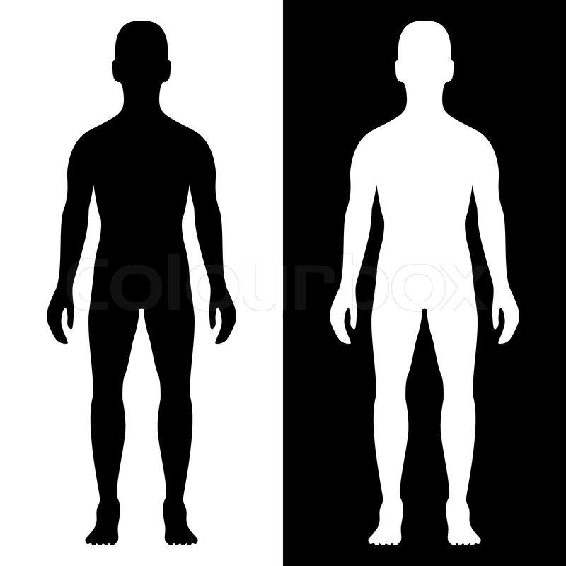 Man body silhouette eps8.