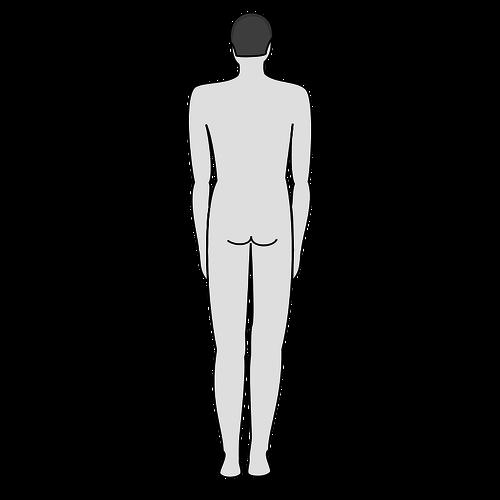 Männlichen Körper.
