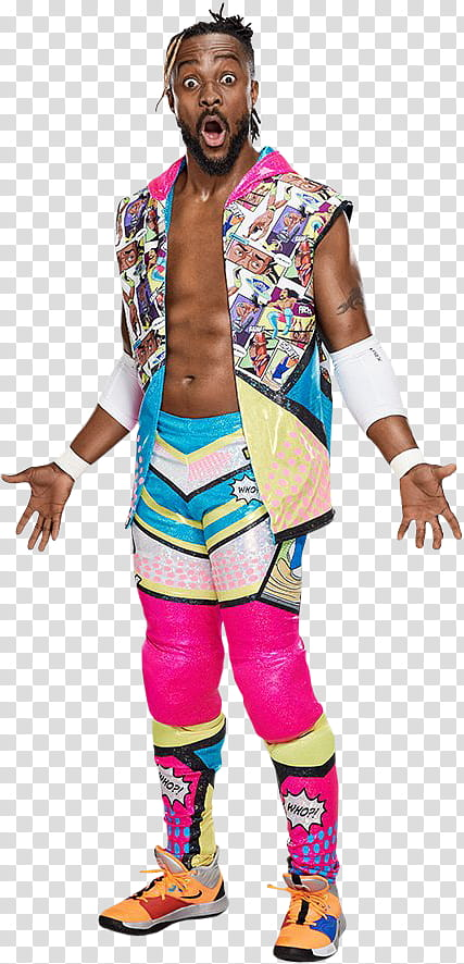 WWE Kofi Kingston transparent background PNG clipart.