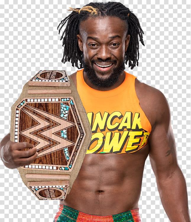 Kofi WWE Champion transparent background PNG clipart.