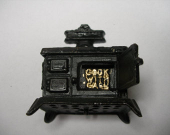 Cast iron stove.