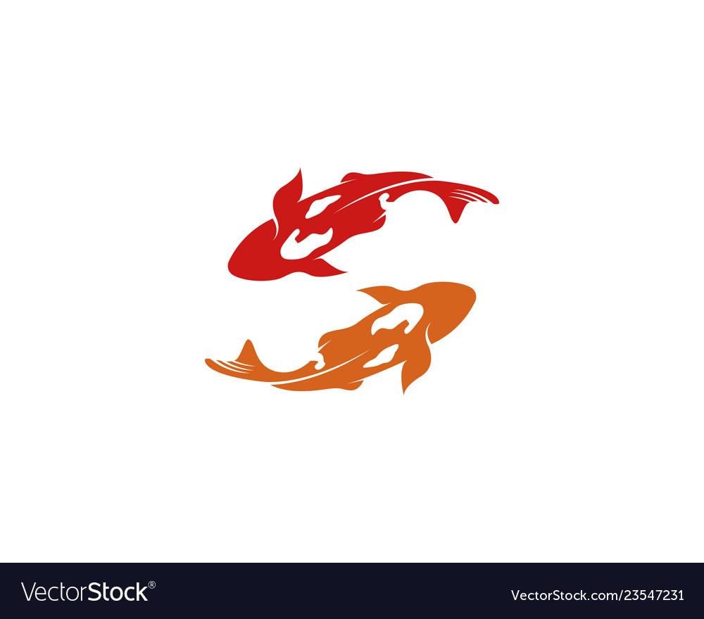 Fish koi logo and symbol animal.