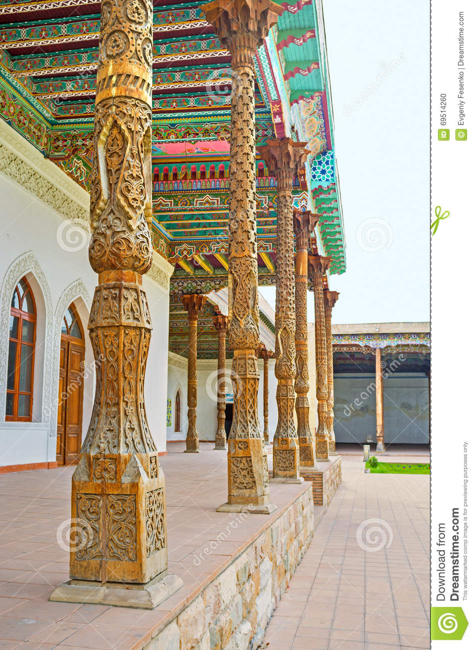 Visiting The Jami Mosque Of Kokand Editorial Image.