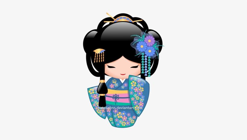 Geisha Clipart Kokeshi Doll.