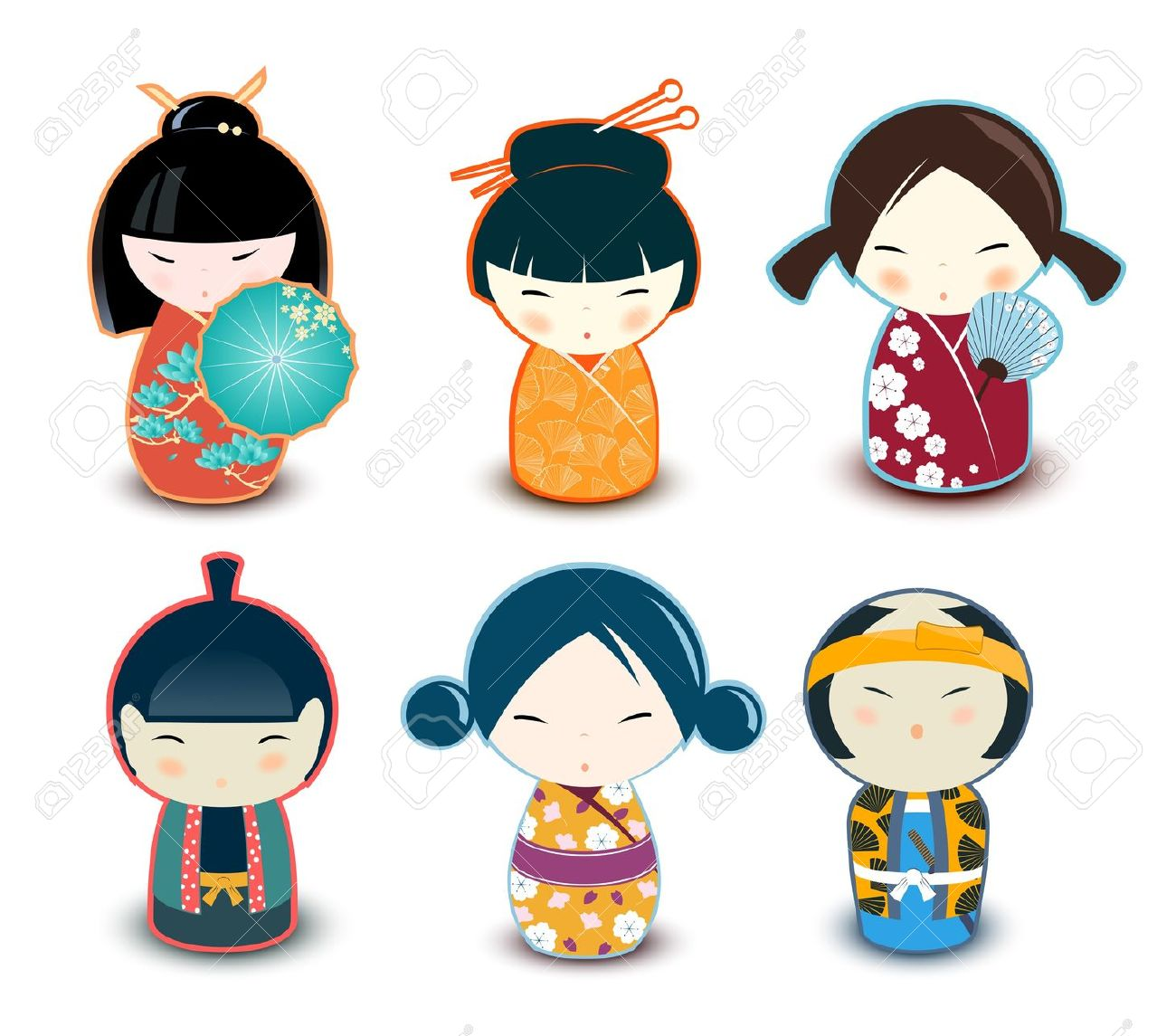 Kokeshi Dolls Royalty Free Cliparts, Vectors, And Stock.