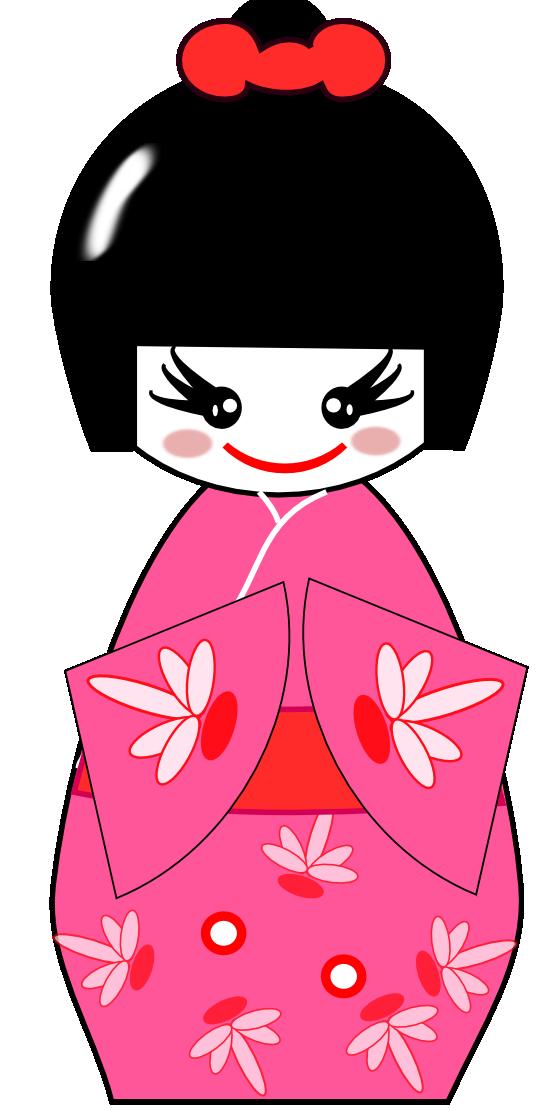 Free Kokeshi Doll Clip Art.