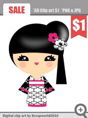 1000+ images about clipart Kokeshi on Pinterest.