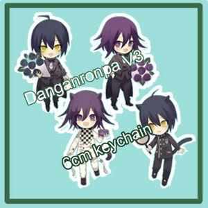 Details about Danganronpa V3 Ouma Kokichi Saihara Shuuichi Keychain Strap  Keyring Kitty Formal.