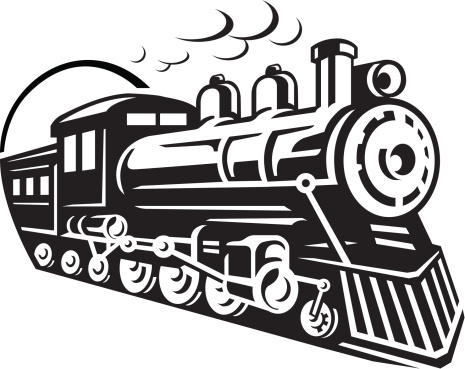 Train locomotive clipart.