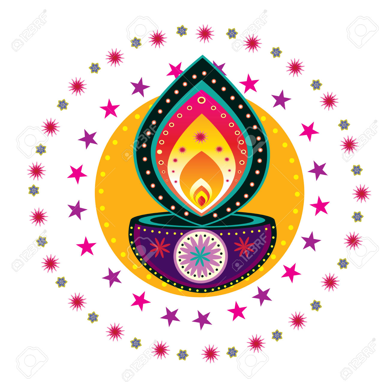 Diwali Candle Light Royalty Free Cliparts, Vectors, And Stock.