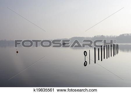 Stock Photography of motor boat sailing at Kolding fjord k19835561.
