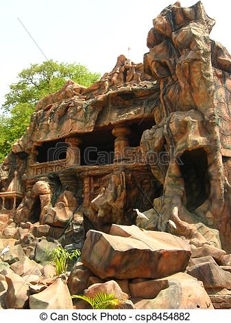 Stock Photo of Cave at Indian village Kolhapur.