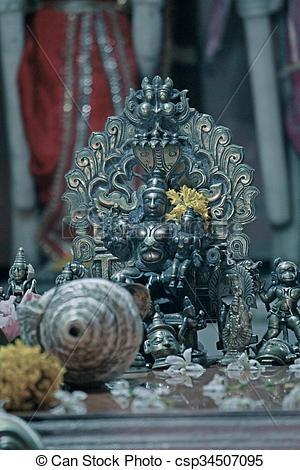 Stock Photographs of god shiva at Ramtirth Temple, Ajara, Kolhapur.