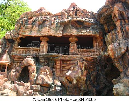 Stock Images of Cave at Indian village Kolhapur.