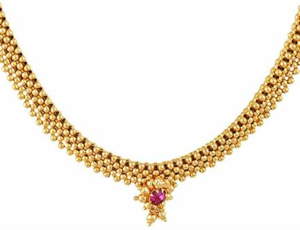 Meenaz Jewellery Gold Plated Traditional Maharashtrian.
